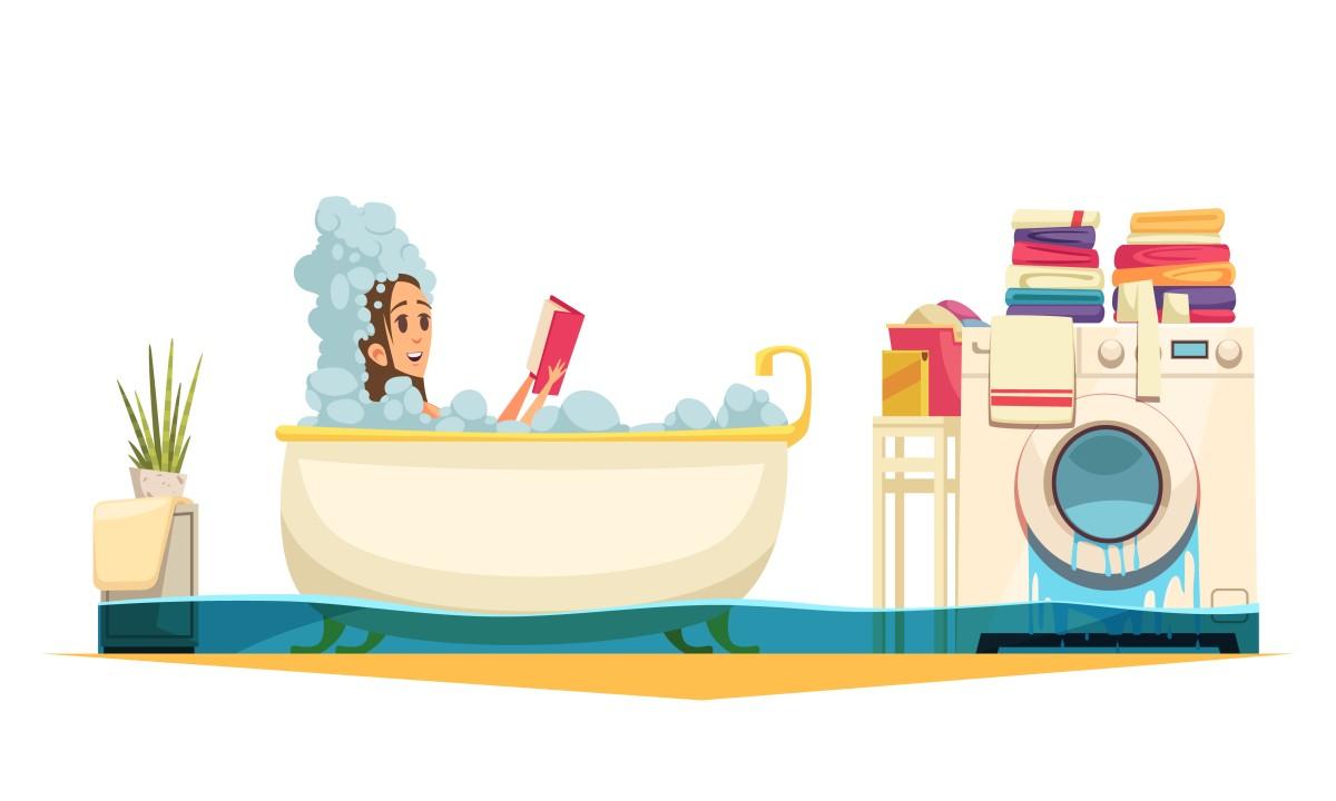 kobieta w wannie ( rysunek wektorowy )